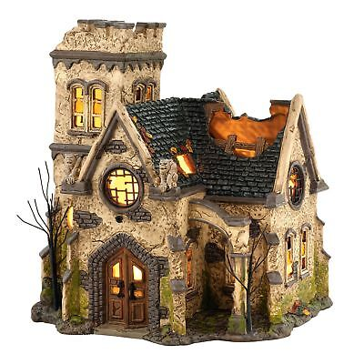 Department 56 Snow Village Halloween The Haunted Church Lit House, 9.06 inch