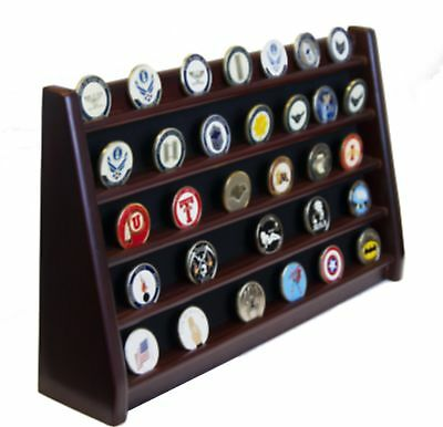 DECOMIL 5 Rows Shelf Challenge Coin Holder Display Casino Chips Holder Solid