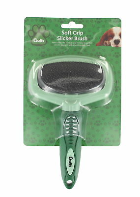 Crufts Slicker Brush Soft Grip Dog Pet Accessory Innovative Design