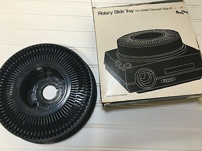 Kodak Rotary Slide Tray Carousel Holds 80 Slides With Original Box Vintage Photo