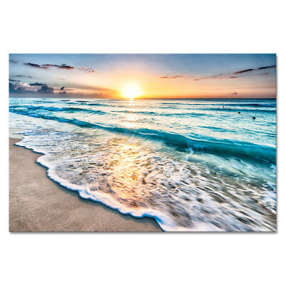 Canvas Prints Painting Picture Wall Art Home Decor Sea Waves Landscape Beach