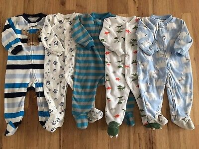 Baby Boy 6/9 9 Months Sleepers Pajama Clothes Lot Free Shipping