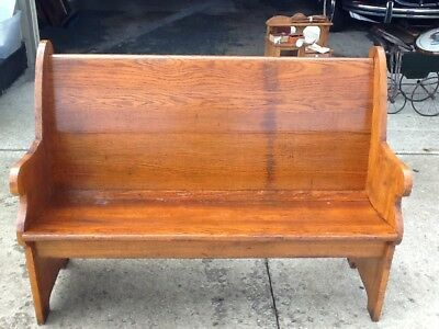 "49"" wide antique oak church pew from Chicago church/ 100+ years old"