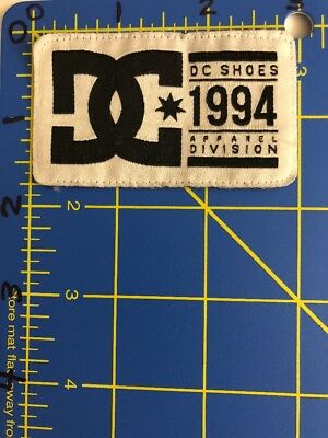 DC Shoes 1994 Apparel Division Patch Tag Skateboarding Snowboarding Fashion USA