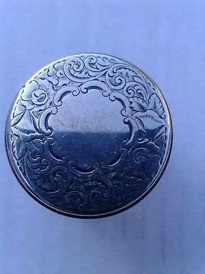 Antique  Victorian Solid Sterling Silver & Glass Box/jar London 1874