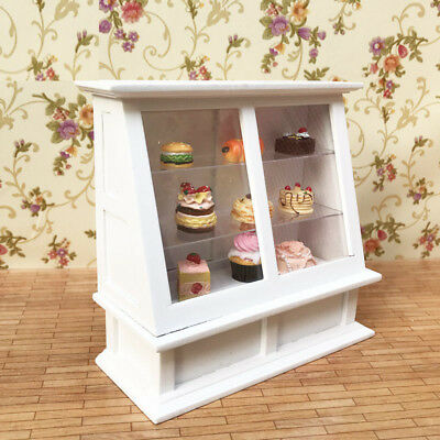 Dollhouse Miniature Store Solid Wood Food Shelf Display Cabinet 1:12 No Food Mini Shop Grocery Store Garden Life Scene Decor Home