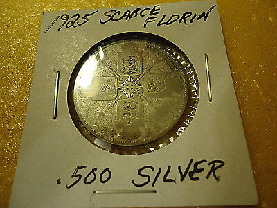 1925 Gothic Florin Coin  **.500 Silver**   >>Combined Shipping<<