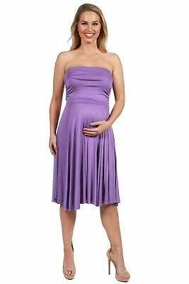 70cd66a3b0bb0 24seven Comfort Apparel Irresistible Strapless Maternity Midi Dress