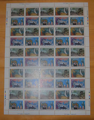 Weeda Canada 1107a VF mint NH full pane of 50, with constant varieties CV $49.90