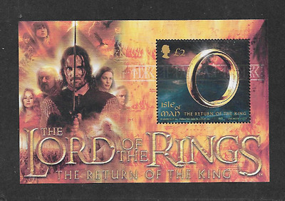 Isle Of Man Postal Issue Mint Souvenir Sheet Lord Of The Rings Return Of King03