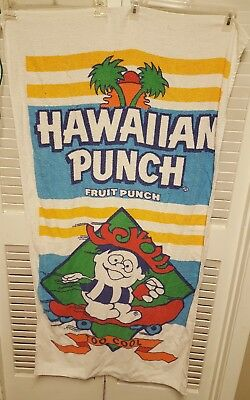 Vintage Hawaiian Punch Beach Towel Beverage TOO COOL  Punchy Doll Two Towel lot.