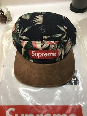 7606f70d10e SUPREME CAMP CAP Hat 5 panel Floral Suede SS12 -  399.00