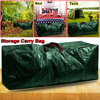 130L Large Heavy Duty Zip Up Garden Waste Bag Camping Outdoor Pocket Sack Handle