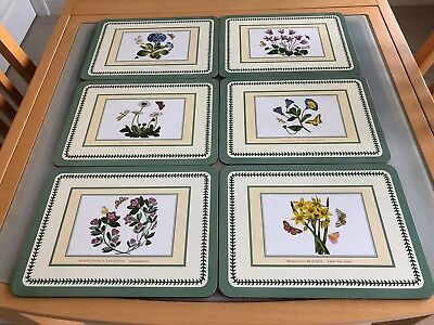 Portmeirion Botanic Garden Table Mats And Coasters Sets Of 6
