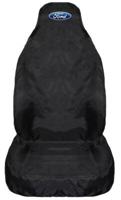 For Ford Ranger Wildtrack 2016+ HD Black Waterproof Car Seat Cover -1 x Front