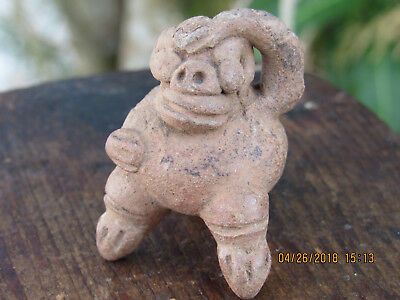 Indus Valley Harappa Terracotta Monkey Toy W/Traces Of Paint.VERY RARE!AUTHENTIC
