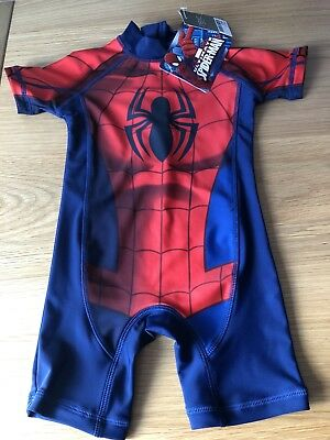 BNWT Next Spiderman Boys Swimsuit Sunsuit UPF 50+ Age 1.5-2 years 18-24 months