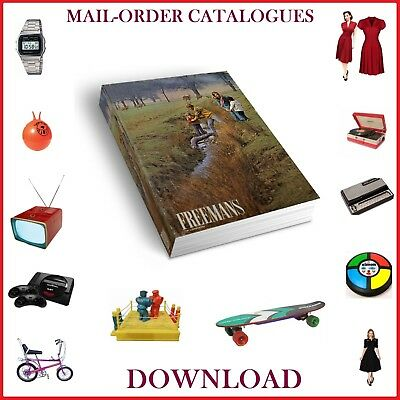 1950s & 60s & 70s FREEMENS MAIL ORDER CATALOGUE FASHION, ELECTRICAL, HOME DVD
