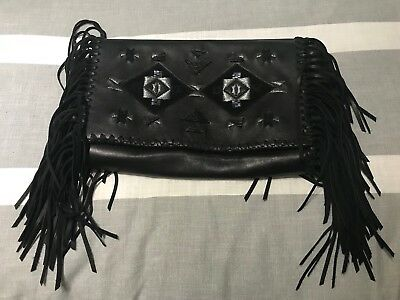 8536769695 POLO RALPH LAUREN Beaded Fringe Clutch Bag New 428  Leather -  99.99 ...