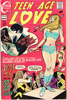 Teen Age Love 63 FN (6.0) Go Go Girls Charlton Comics 1969 Young Romantic