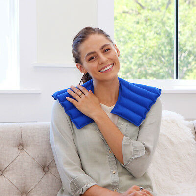 Hot & Cold Neck & Shoulder Wrap-Pain Relief Solution - My Heating Pad (Blue)