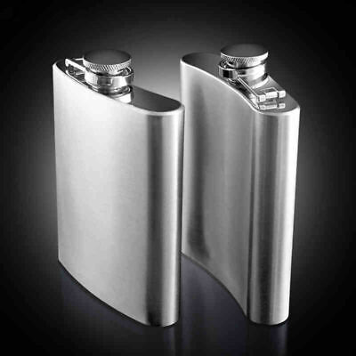 8Oz Stainless Steel Hip Liquor Whiskey Alcohol Flask Funnel Pocket Wine Bottle