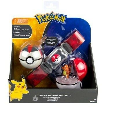 Tomy Pokemon Clip n Carry Kids Poke Ball Belt Pretend Play Authentic Charmander