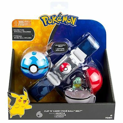 Tomy Pokemon Clip n Carry Kids Poke Ball Belt Pretend Play Authentic Squirtle