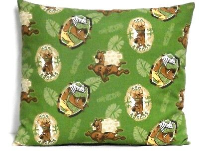 Scooby Doo  Toddler Pillow on Green 100%Cotton SB9-4 New Handmade