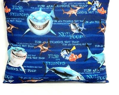 Finding Nemo Toddler Pillow on Blue Cotton N1-23 New Handmade