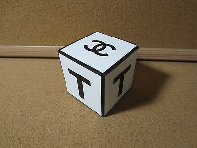 Chanel Advertising Display Rare Wood Wooden Block Letter Initial T & Logo (P2609
