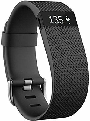 Fitbit Charge HR Activity Tracker with Heart Rate Monitor - Large Black FB405BKL