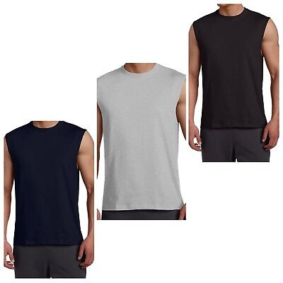 Russell Athletic Men Sleeveless Muscle Tshirt Tee Top  Gray Navy Black 2X 3X 4X