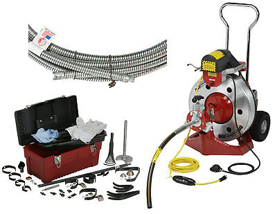 """Spartan Tool 2001 Drain Cleaner, 0.66"""" Magnum Cutter Kit, (2) .66 x 50' Cables"""