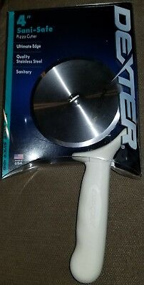 4 Inch Pizza Cutter Dexter Sani Sani Safe White Handle Dexter P177A-Pcp