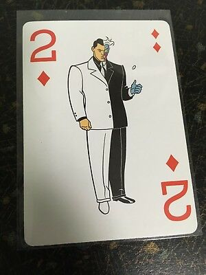 1992 Batman The Animated Series Two Face Playing Card 2 Of Diamonds Official