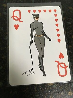 1992 Batman The Animated Series The Catwoman Playing Card Queen Of Hearts