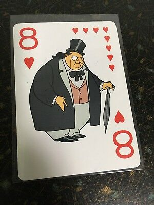 1992 Batman The Animated Series The Penguin Playing Card 8 Of Hearts Official