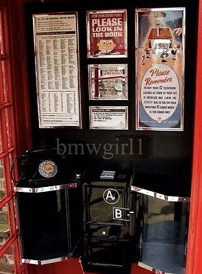 K6 Red Telephone Box Jubille Notice Frame Set GPO