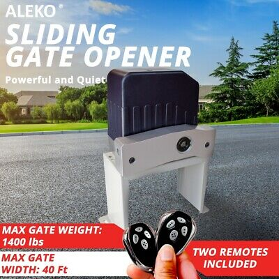 ALEKO Electric Sliding Gate Opener for Sliding Gates Up to 40ft Long and 1400lb