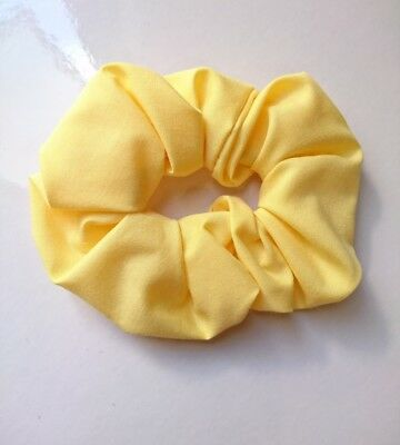 Yellow colour handmade wide hair Scrunchie ponytail holder hair tie band retro