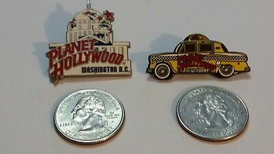 Planet Hollywood Lapel/ Trading / Collector's Pins- Washington DC, New York Cab