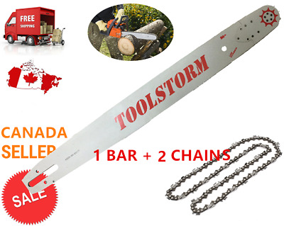 """24"""" Chainsaw Bar And Chain (2 Ripping Chains) Combo 3/8"""" 0.058"""" 84Dl Husqvarna"""