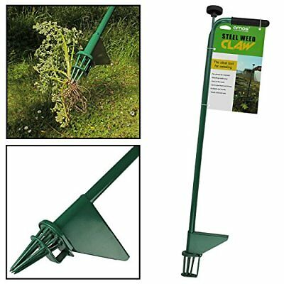 AMOS Steel Weed Puller Claw Lawn Easy Weeder Root Remover Killer Grabber ...