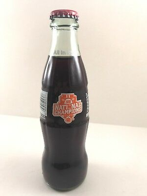 Coca Cola Glass Bottle 2016 Nat'l Football Champions Clemson Tigers