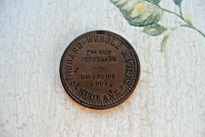 1940's Vintage Token *The Ford 49'er*  Stoddard Wendle Motors Spokane Washington