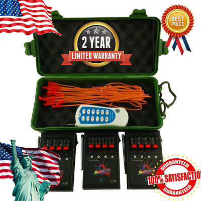 Wireless 12CH Fireworks Firing System+Remote Switch Electric Igniter for Party