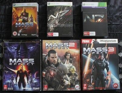 Mass Effect Collector's Edition Trilogy with Game Guides