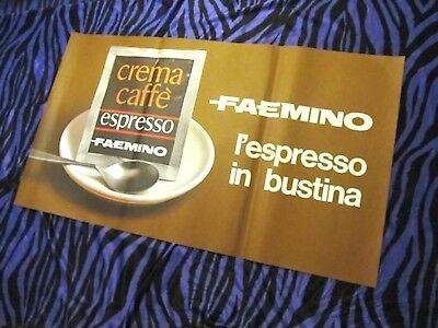 CAFE FROM ITALY! Vintage ITALIAN ADVERTISING POSTER! COFFEE ESPRESSO Kitchen Art