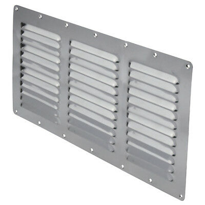 Stainless Steel Rectangular Louvre Air Vent, Caravan, Boat, Wall Eave